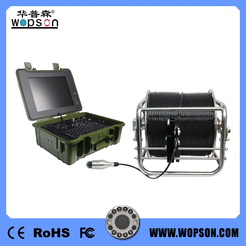 WOPSON pan tilt Camera for sewer deep well inspection camera